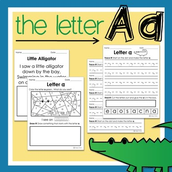 Letter a: Recognizing Letters and Handwriting Practice