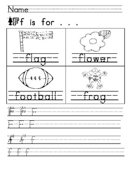 Letter a Week Phonics Practice