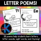 Letter / alphabet poems for letters A-Z {GREAT for early r