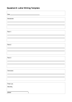 Letter and Article Writing Template