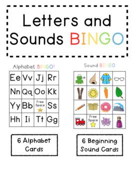 Letter and Beginning Sound BINGO