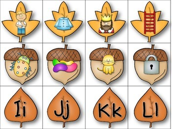 Letter and Beginning Sound Learning Activities for Fall