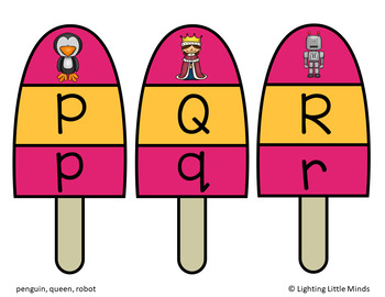 Letter and Beginning Sound Match-Popsicles