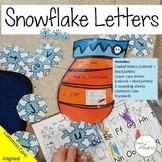 Beginning Sounds Snowflakes Game Kindergarten Winter Activities