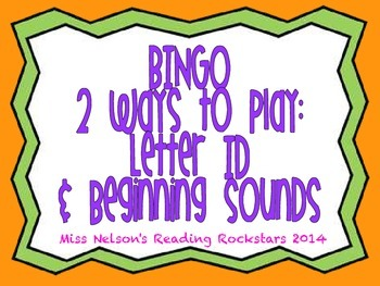 Letter and Beginning Sounds BINGO Game!