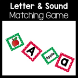 Letter and Beginning Sounds Alphabet Matching Game