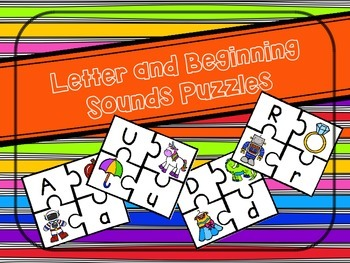 Letter and Beginning Sounds Puzzles - 26