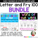 Letter and Fry 100 Word of the Week {BUNDLE}