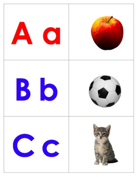 Letter and Keyword Picture Matching Cards