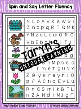 Letter and Letter Sound Fluency- May Edition