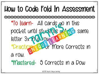 Letter and Letter Sound Fold In Assessment