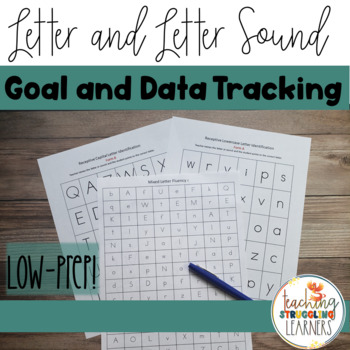 Letter and Letter Sound Identification Data Tracking