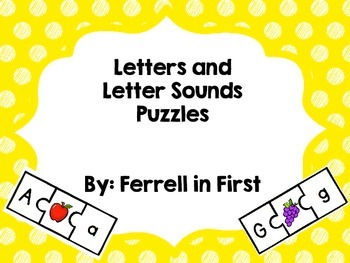 Letter and Letter Sounds Puzzles