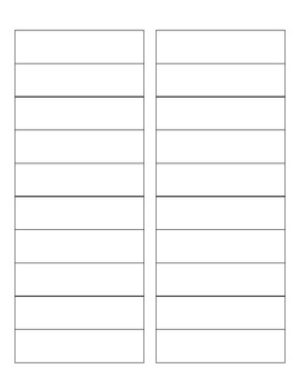 Letter and List Template for Writing Center