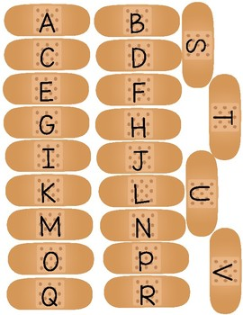 Letter and Number Band Aids