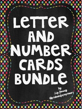 Letter and Number Card Bundle