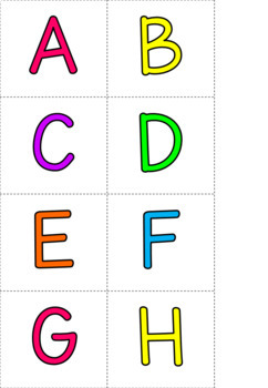 Letter and Number Cards