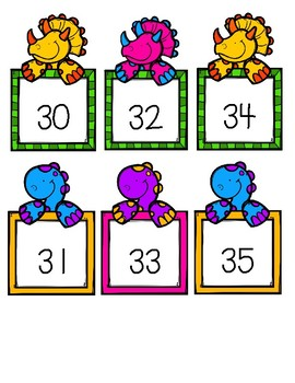 Letter and Number Cards {DINOSAUR THEME}