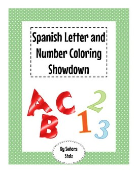 Letter and Number Coloring Showdown: Spanish Alphabet and Numbers Game