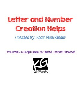 Letter and Number Creation Helps
