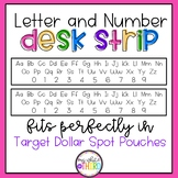 Letter and Number Desk Strip - Long Target Dollar Spot Pouches