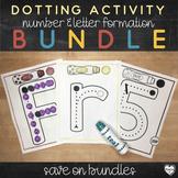 Letter and Number Dotting Activity Mats Bundle