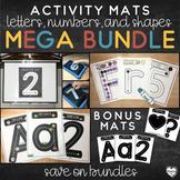 Letter and Number Activity Mats Mega Bundle