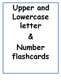 Letter and Number Flash Cards