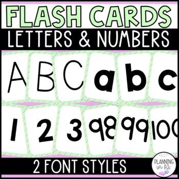 Letter and Number Flash Cards - Polka Dot BUNDLE