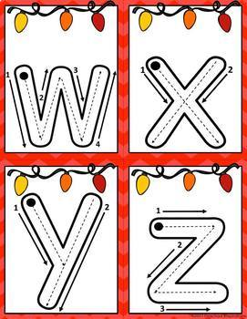Letter and Number Formation Christmas Writing Cards