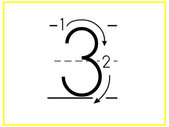 Letter and Number Formation Posters {Freebie}
