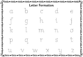Letter and Number Formation - Sassoon Font