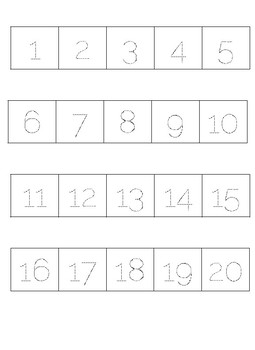 Letter and Number Formation Strips