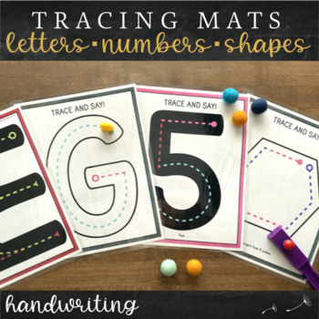Letter and Number Formation Tracing Mats : Handwriting Color Coordinated Theme