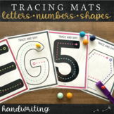 Letter and Number Formation Tracing Mats : Handwriting Col