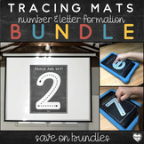 Letter and Number Formation Tracing Mats : Chalkboard Them