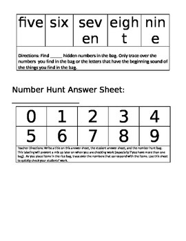 Letter and Number Hunt
