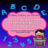 Letter and Number Identification A-Z and 0-20: Point, Colo