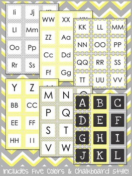 Letter and Number Labels - Sweet and Sunny Theme {Yellow and Grey}
