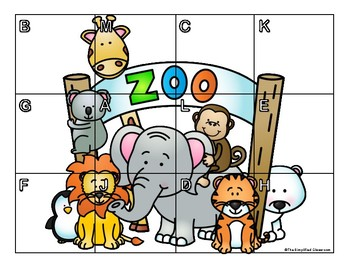Letter and Number Matching Puzzles - Zoo Theme {FREEBIE!}