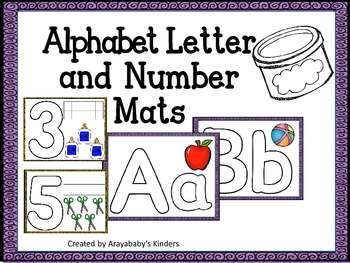 Letter and Number Playdoh Mats