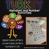 Letter and Number Recognition Practice | Turkey Themed