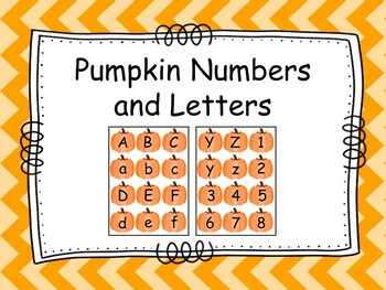 Letter and Number Pumpkins