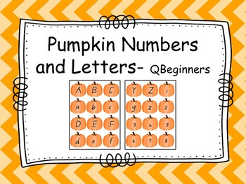 Letter and Number Pumpkins - QBeginners