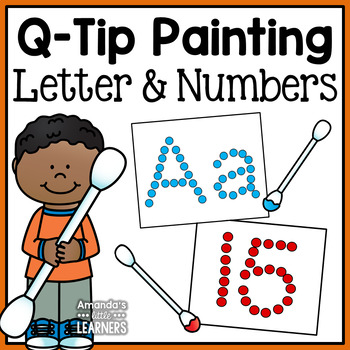 Letter and Number Q-Tip Painting