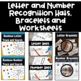Letter and Number Recognition Bundle With Hats, Bracelets