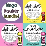 Letter and Number Recognition Dab - A - letter Bundle // N