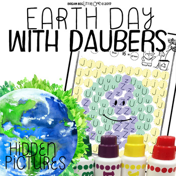 Earth Day Hidden Pictures with Daubers (Letters & Numbers)