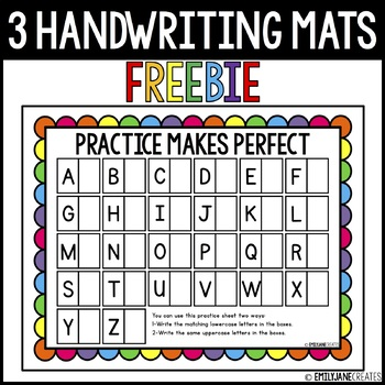 Letter and Number Reusable Handwriting Mats
