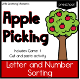 Letter and Number Sort - Apple Themed